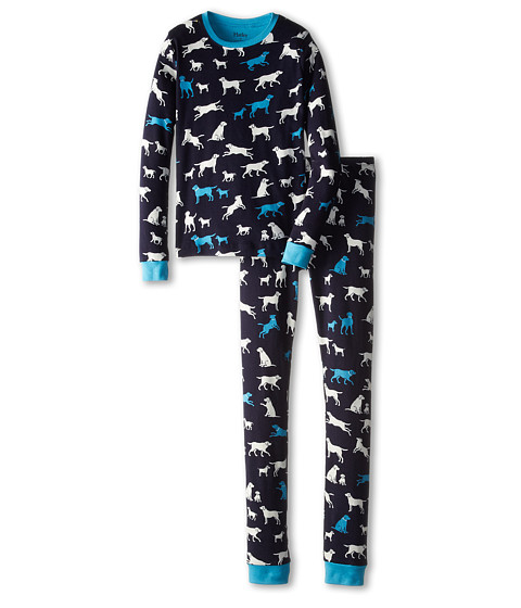 Hatley Kids - Classic Labs PJ Set (Toddler/Little Kids/Big Kids) (Blue) Boy's Pajama Sets