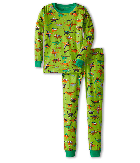 Hatley Kids - Dinos PJ Set (Toddler/Little Kids/Big Kids) (Green) Boy's Pajama Sets