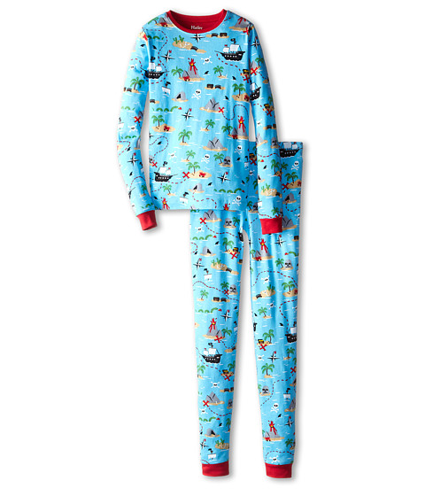 Hatley Kids - Treasure Island PJ Set (Toddler/Little Kids/Big Kids) (Blue) Boy