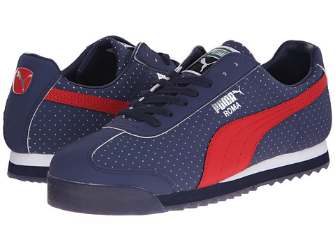 PUMA - Roma NBK Perf (Peacoat/High Risk Red) Athletic Shoes