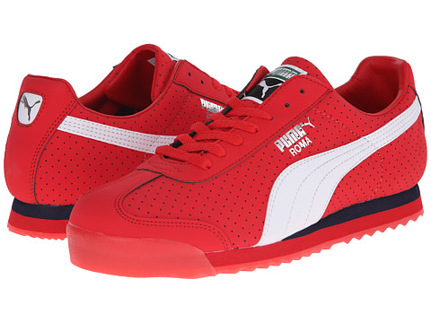 PUMA - Roma NBK Perf (High Risk Red/White) Athletic Shoes