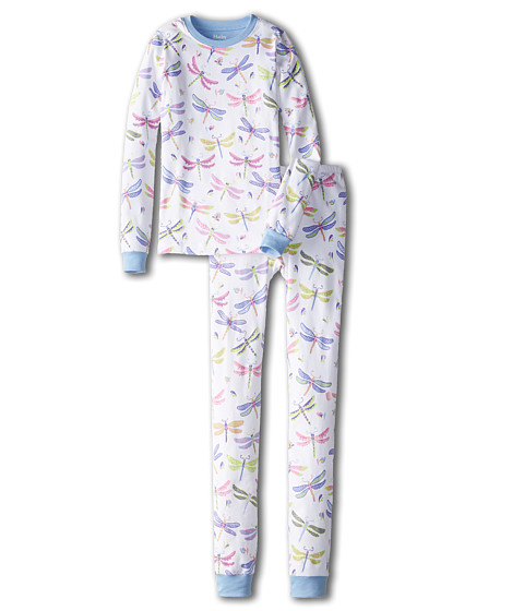 Hatley Kids - Dragonflies PJ Set (Toddler/Little Kids/Big Kids) (White) Girl's Pajama Sets