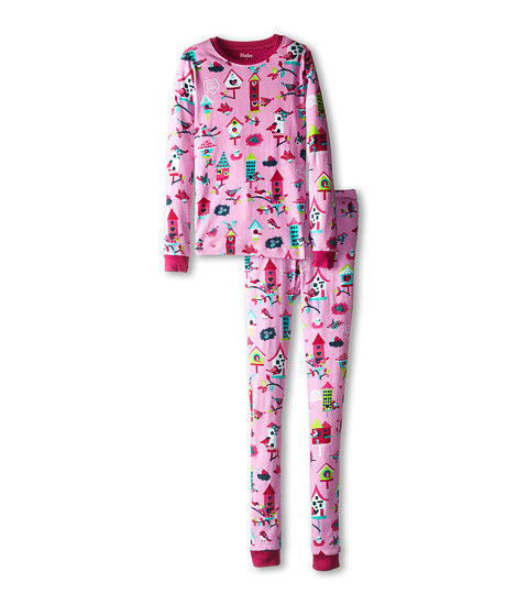 Hatley Kids - Bird Houses PJ Set (Toddler/Little Kids/Big Kids) (Pink) Girl