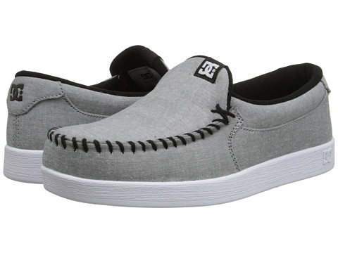 DC - Villain TX (Light Grey) Men's Skate Shoes