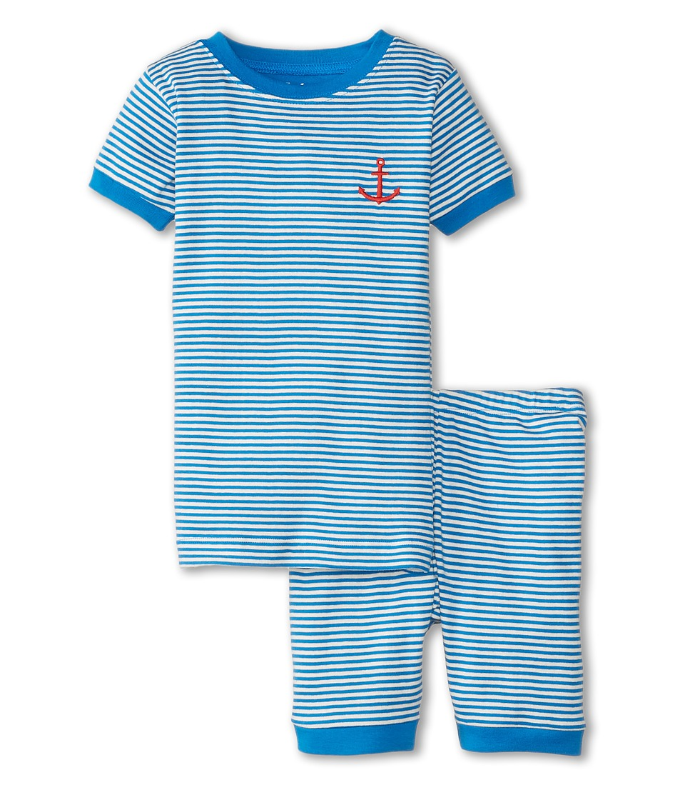 Hatley Kids - Anchor Stripe Short PJ Set (Toddler/Little Kids/Big Kids) (Blue) Boy's Pajama Sets