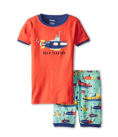 Hatley Kids - Submarines Deep Sleeper Short PJ Set (Toddler/Little Kids/Big Kids) (Orange) Boy's Pajama Sets