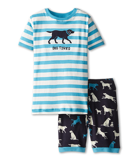 Hatley Kids - Classic Labs Dog Tired Short PJ Set (Toddler/Little Kids/Big Kids) (Blue) Boy