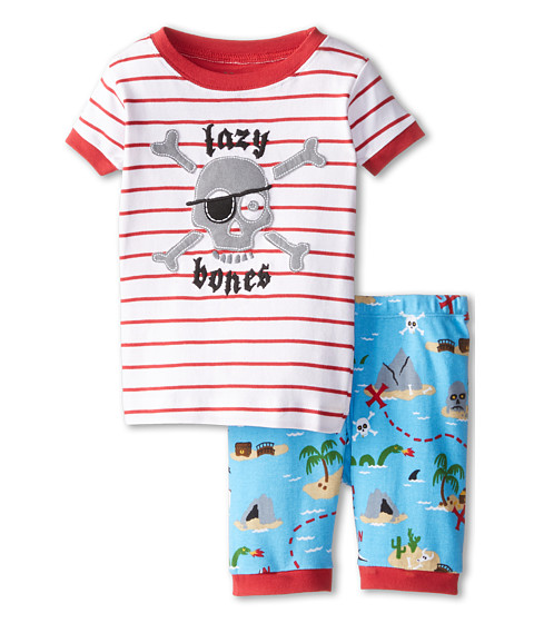 Hatley Kids - Treasure Island Lazy Bones Short PJ Set (Toddler/Little Kids/Big Kids) (White) Boy