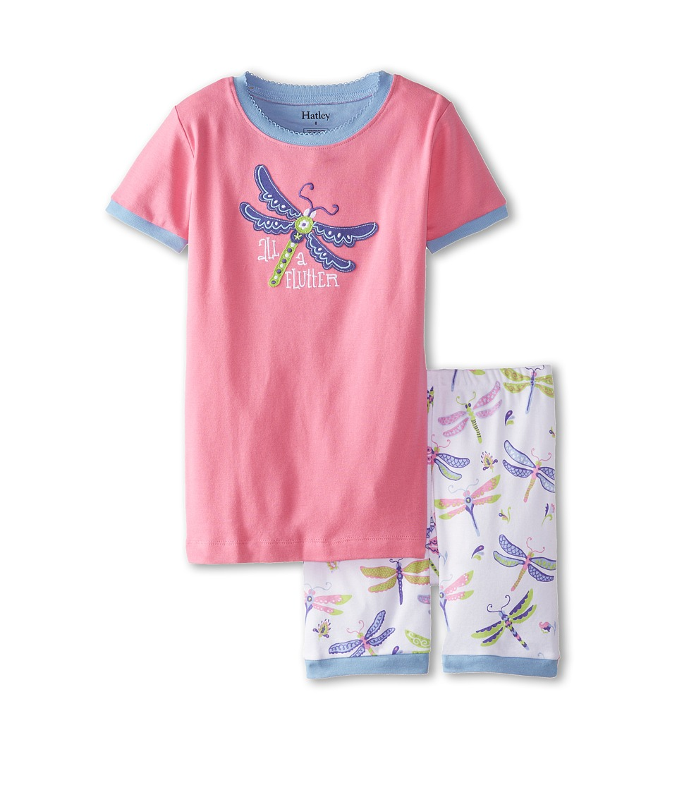 Hatley Kids - Dragonfly All A'Flutter Short PJ Set (Toddler/Little Kids/Big Kids) (Pink) Girl's Pajama Sets