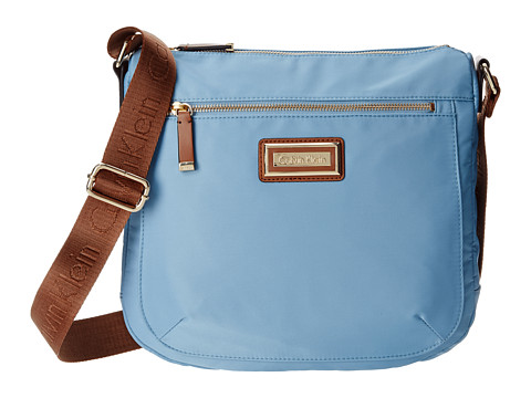 Calvin Klein - Nylon Messenger (Pale Blue) Messenger Bags
