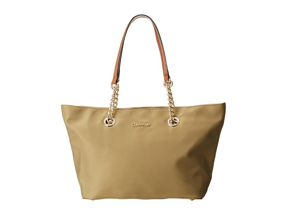 Calvin Klein - Nylon Tote (Khaki) Tote Handbags