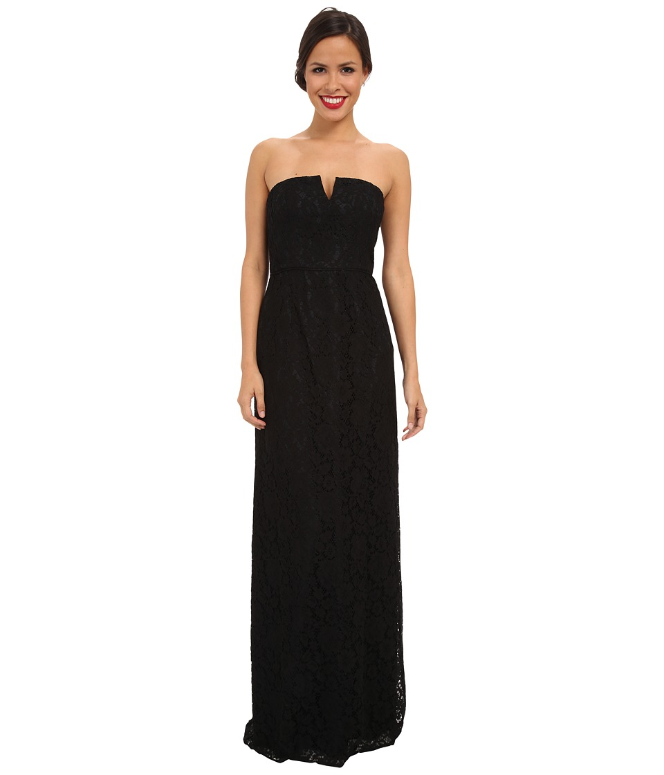 Donna Morgan - Strapless Lace Long Gown (Black) Women's Dress