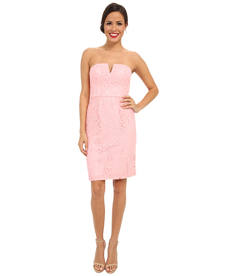 Donna Morgan - Strapless Lace Short Dress (Cherry Blossom) Women
