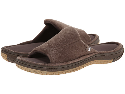ISOTONER Signature - Perfed Microsuede Slide (Taupe) Men's Slippers