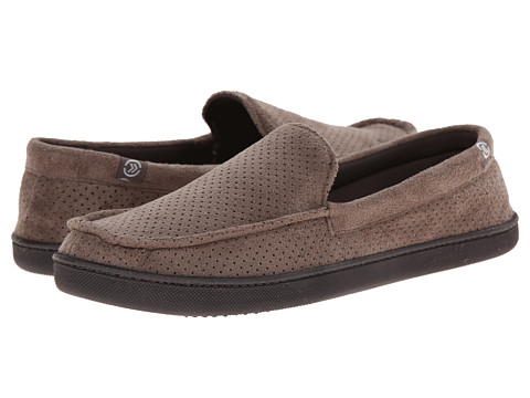 ISOTONER Signature - Microsuede Perf Moccasin (Taupe) Men's Slippers