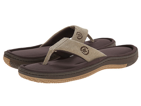ISOTONER Signature - Canvas Thong (Tan) Men's Slippers