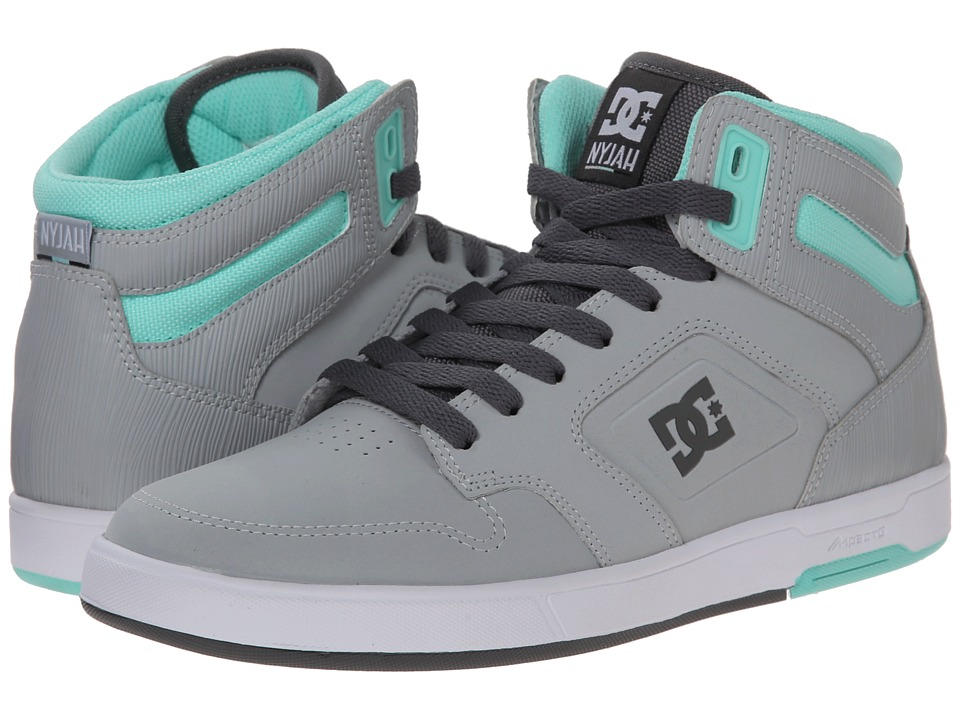 DC - Nyjah High (Grey/White) Women's Skate Shoes