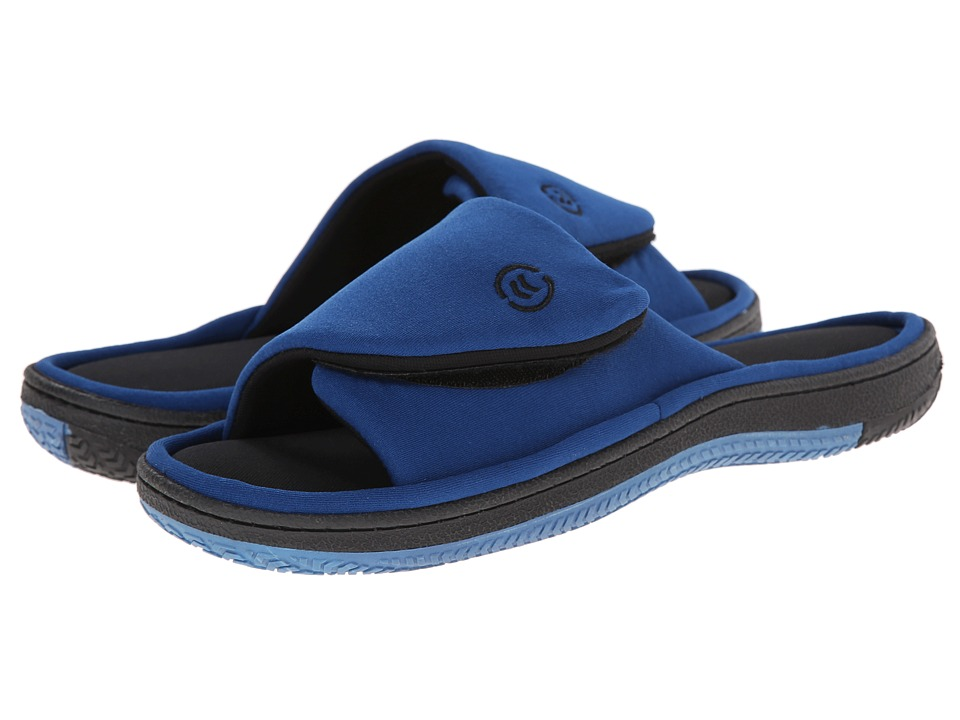 ISOTONER Signature - Neoprene Strap Slip-On (Royal/Black) Men's Slippers