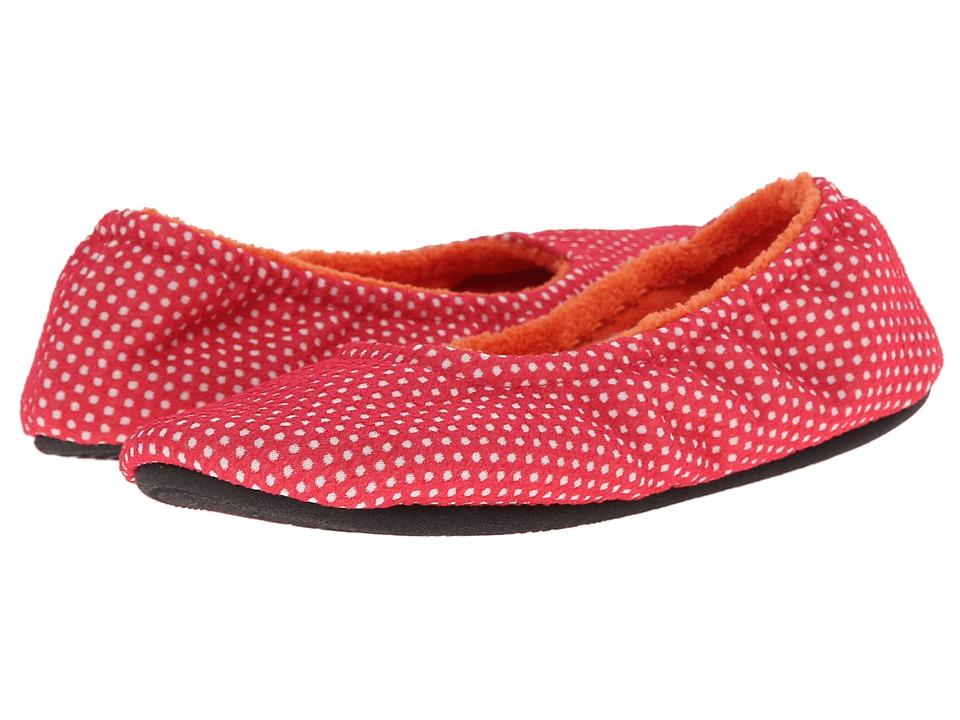 ISOTONER Signature - Ava Polka Dot Ballerina (Azalea) Women's Slippers