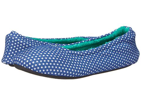 ISOTONER Signature - Ava Polka Dot Ballerina (Sapphire) Women's Slippers