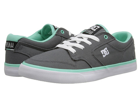 DC - Nyjah Vulc TX (Grey/White) Women's Skate Shoes