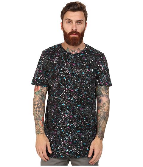 PUMA - Speckle Tee (Black/Capri Breeze/Vivid Viola/Black) Men's T Shirt