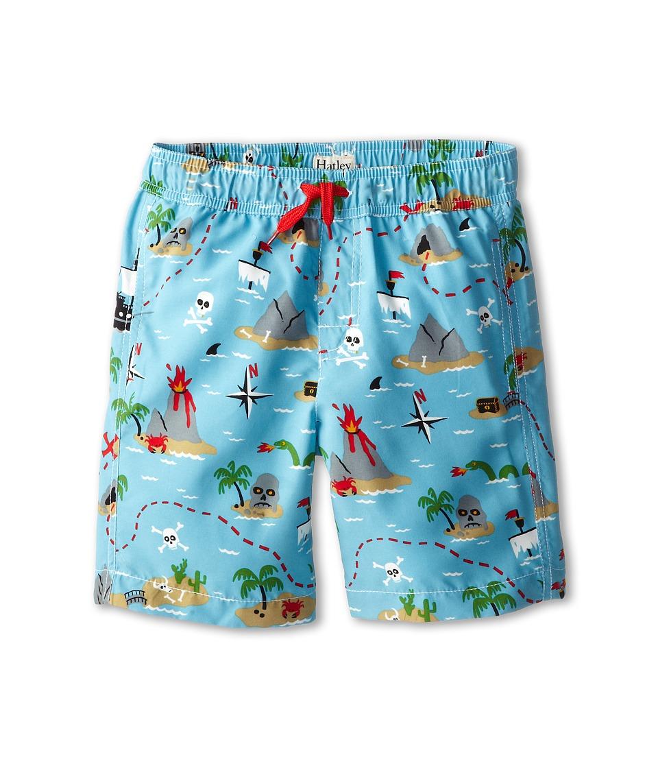 Hatley Kids - Treasure Island Swim Trunk (Toddler/Little Kids/Big Kids) (Blue) Boy's Swimwear