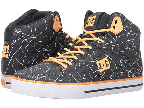 DC - Spartan High WC SP (Grey Orange) Women's Skate Shoes
