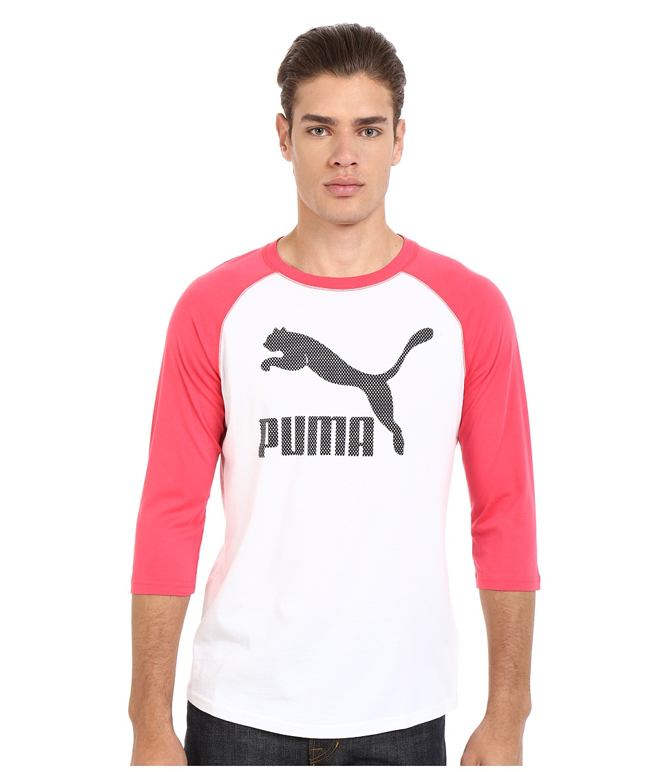 PUMA - Graphic Raglan (Teaberry Red) Men's Clothing