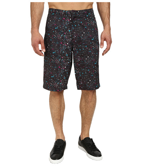 PUMA - 12 Woven Bermuda Short (Black/Splatter Print) Men's Shorts