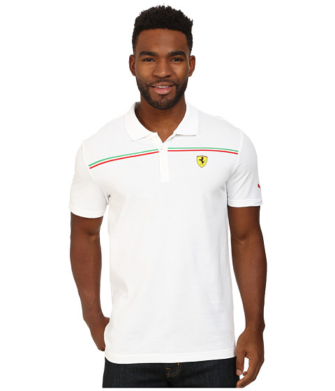 PUMA - Scuderia Ferrari Polo 2 (White) Men