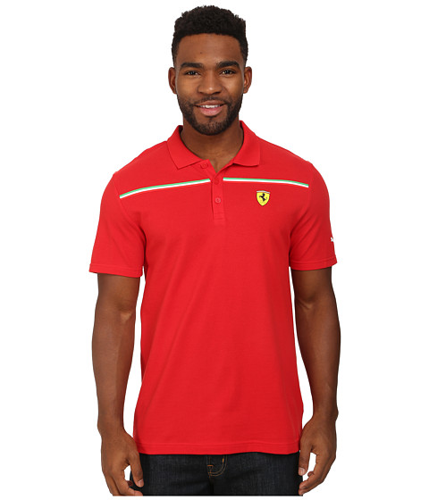 PUMA - Scuderia Ferrari Polo 2 (Rosso Corsa) Men's T Shirt