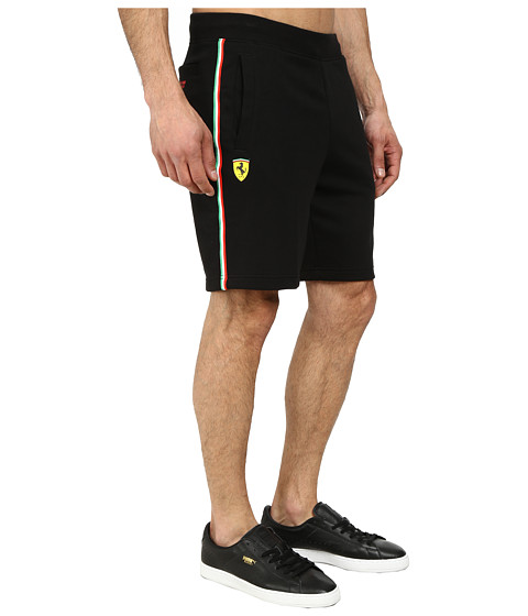 PUMA - Scuderia Ferrari Sweat Bermudas (Black) Men's Shorts
