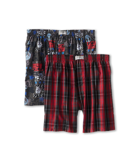 Jockey Kids - Modern Fit Woven Boxer 2-Pack (Little Kids/Big Kids) (Red) Boy