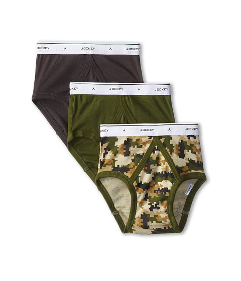 Jockey Kids - Classic Brief 3-Pack (Little Kids/Big Kids) (Green) Boy