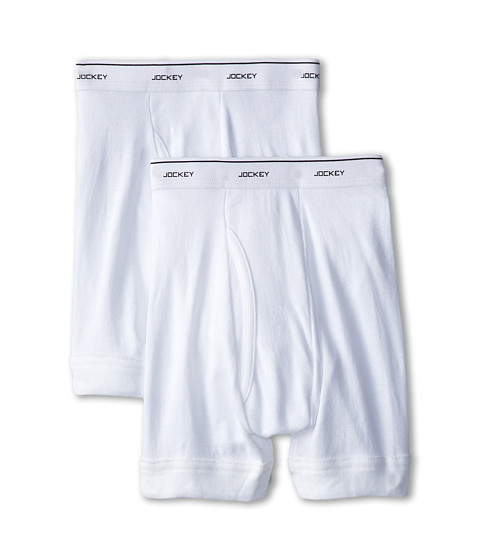 Jockey Kids - Modern Fit Boxer Brief 2-Pack (Little Kids/Big Kids) (White) Boy's Underwear
