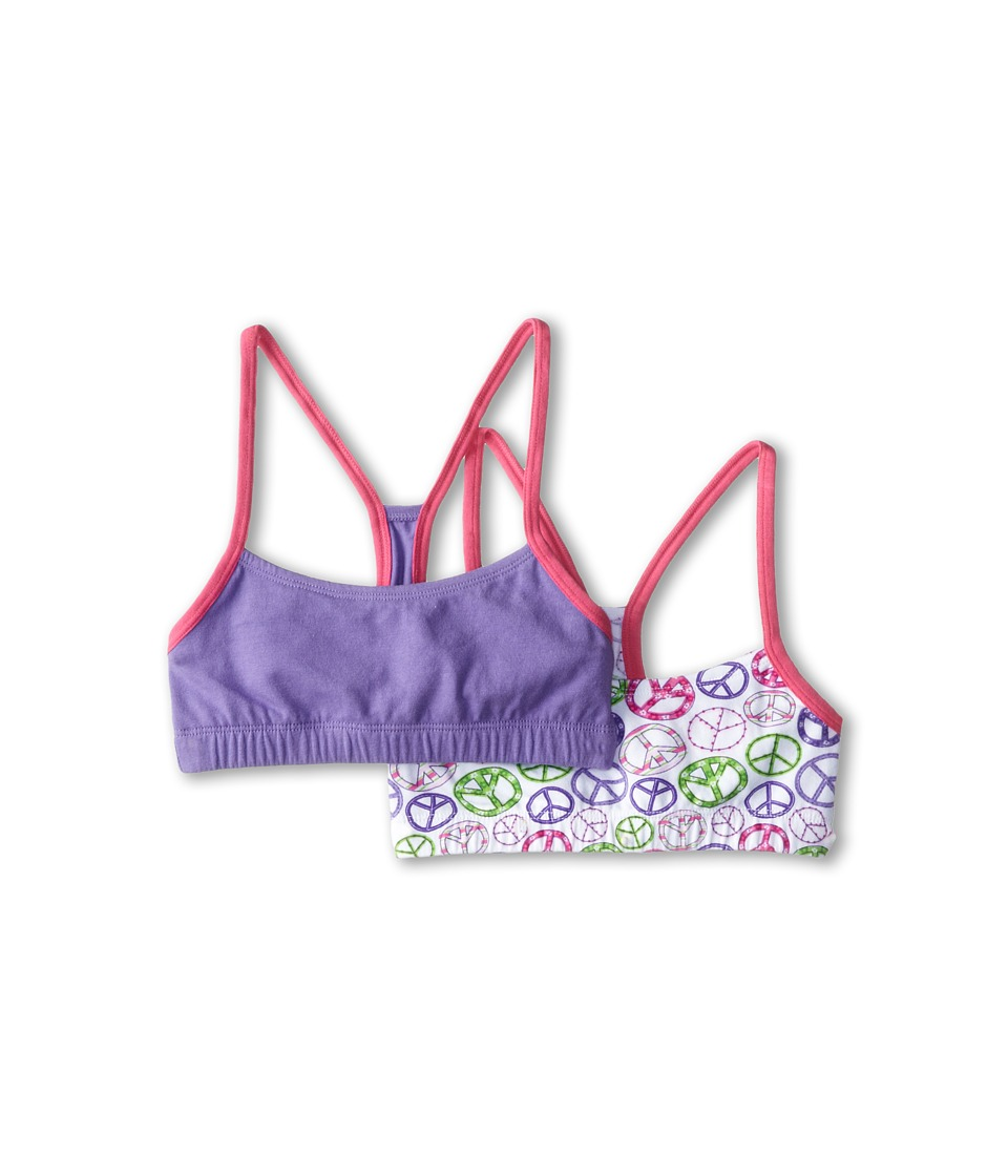Jockey Kids - Crop Top with Racerback 2-Pack (Big Kids) (Purple) Girl's Bra