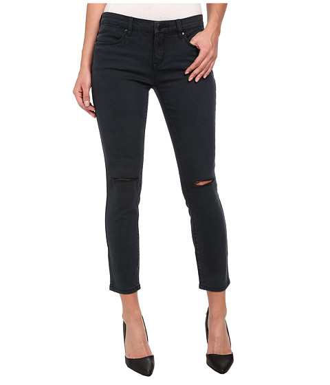 Blank NYC - Navy Crop Skinny With Rips On Knees in Cruisin For Bruisin (Cruisin For Bruisin) Women's Jeans
