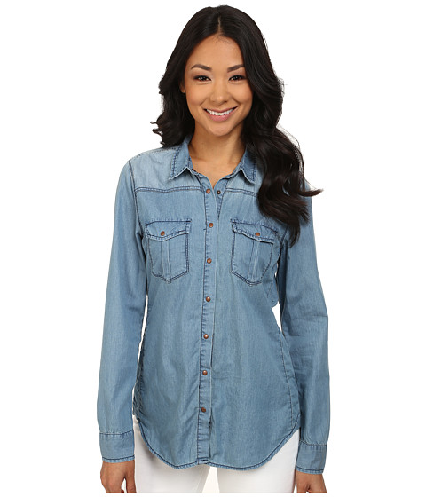 Blank NYC - Denim Shirt in Going Off (Going Off) Women's Long Sleeve Button Up