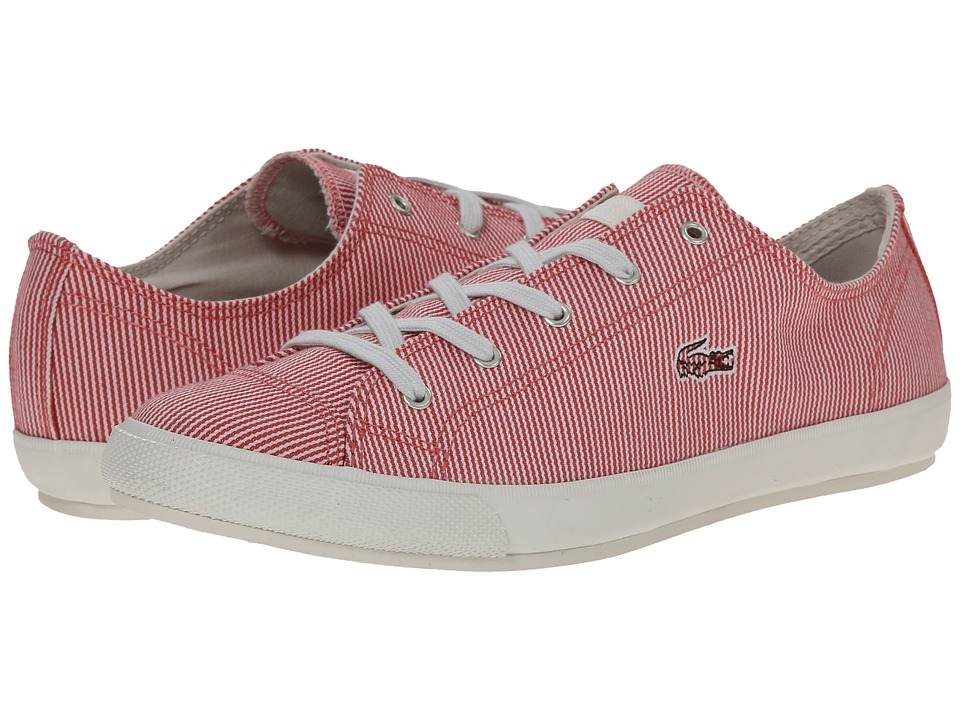 Lacoste - Fairburn W19 (Light Red/Off White) Women's Lace up casual Shoes