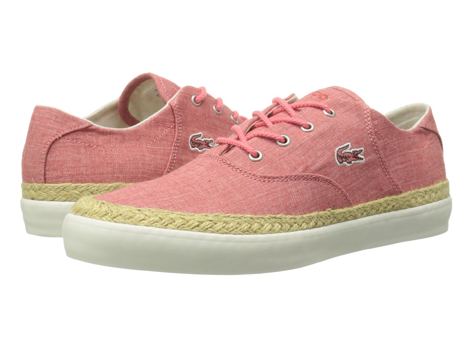 Lacoste - Glendon Espa 4 (Light Red) Women's Lace up casual Shoes