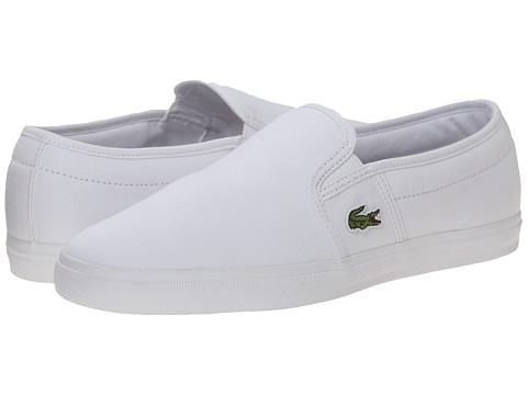 Lacoste - Gazon Sport HTB (White/White) Women's Slip on Shoes