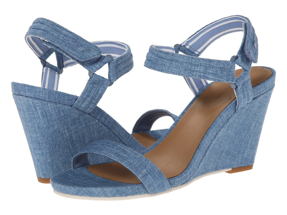 Lacoste - Karoly 3 (Blue) Women's Wedge Shoes
