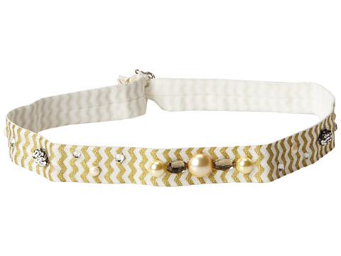 Jane Tran - Stretchy Printed Headband (Gold/White) Headband
