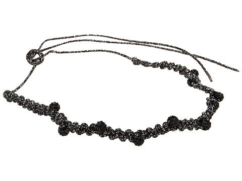 Jane Tran - Sparkly Tie Headband (Black) Headband