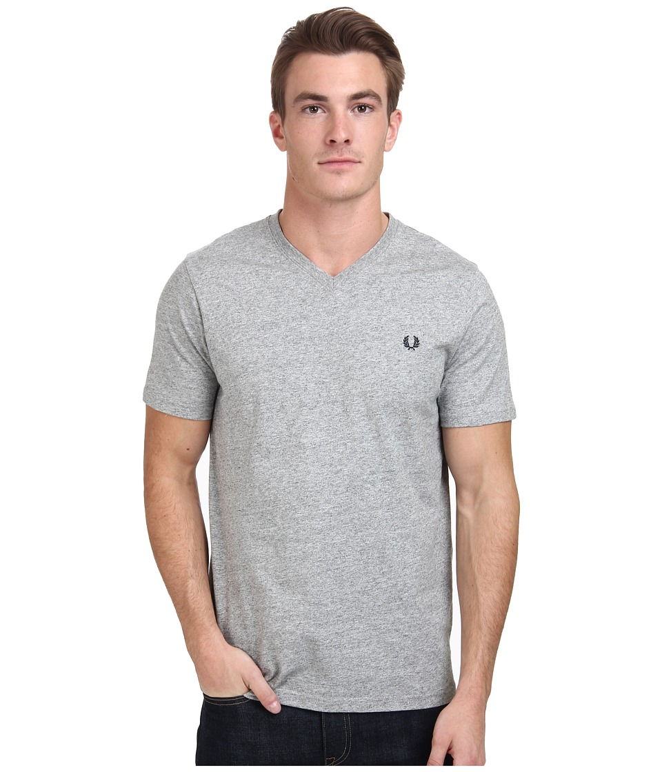 Fred Perry - V-Neck T-Shirt (Vintage Steel Marl) Men's T Shirt