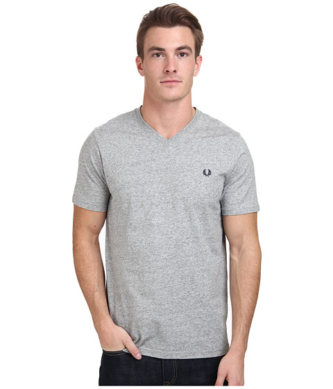 Fred Perry - V-Neck T-Shirt (Vintage Steel Marl) Men