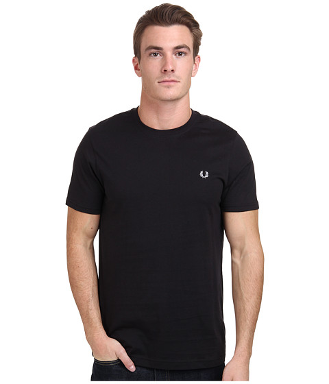 Fred Perry - Crew Neck T-Shirt (Black) Men's T Shirt