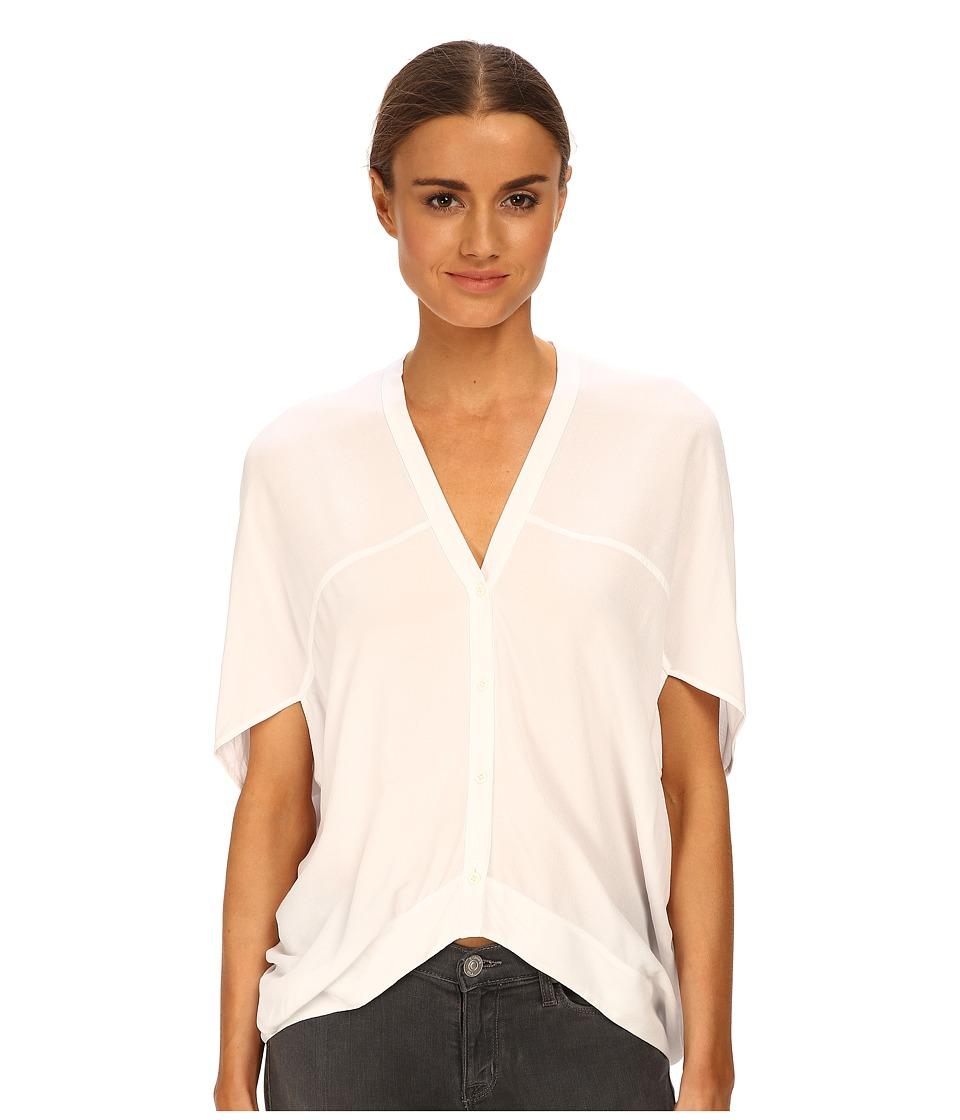 HELMUT LANG - Axio Crepe Shirt (White) Women's Blouse