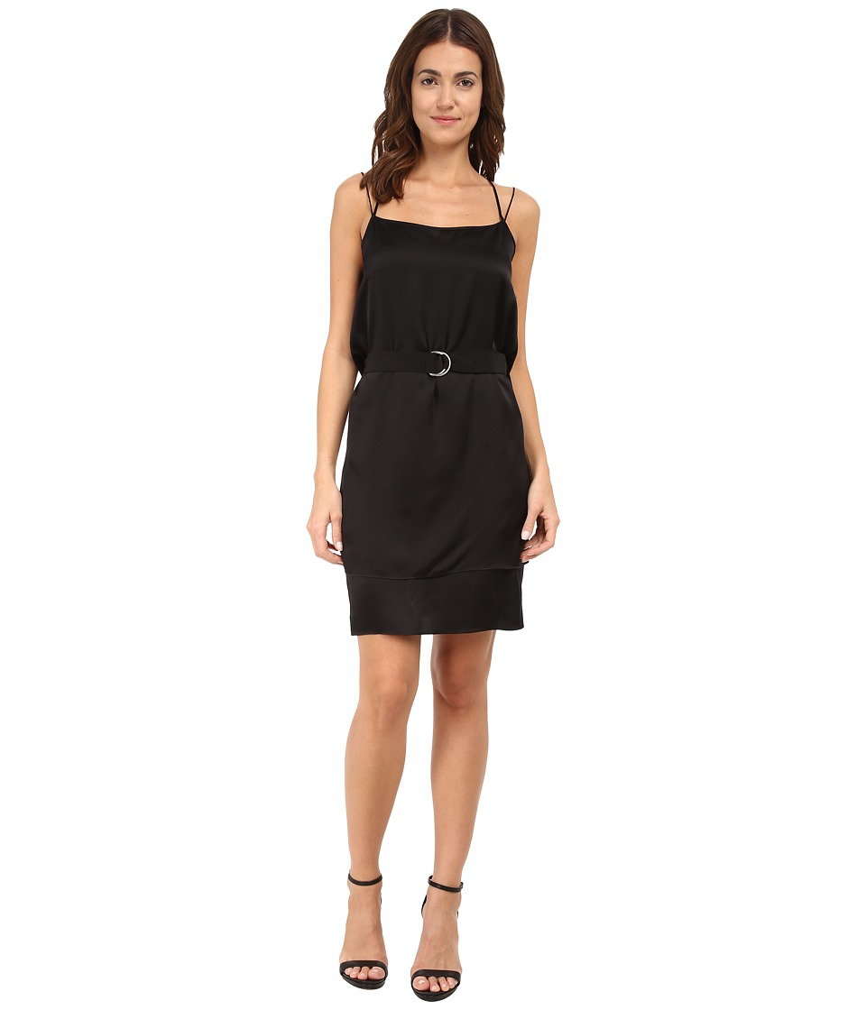 HELMUT LANG Mere Silk Belted Silk Dress (Black) Women